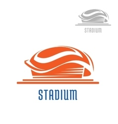Sport area or stadium icon vector