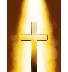 Mystic golden cross vector