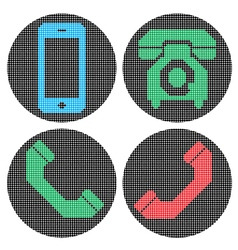 Pixel phone icons vector