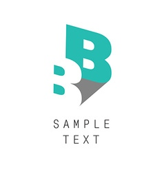 Double b icon vector