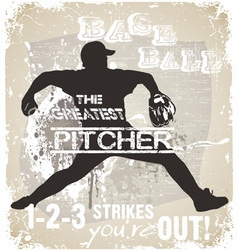 Great pitcher vector