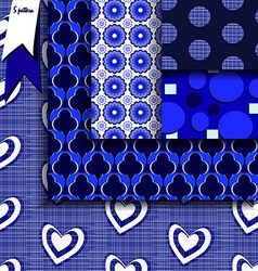 Blue and white geometric vector