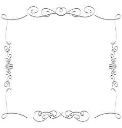 Calligraphic borders frames vector image