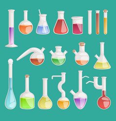 Chemical laboratory lab flask glassware vector
