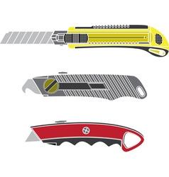 Colour cutter knifes vector