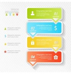 Design infographics four successive options vector
