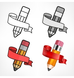 Different style pencils vector image vector image