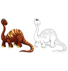 doodle animal for brachiosaurus vector image vector image