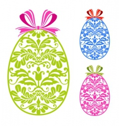 Easter ornaments eggs vector image vector image