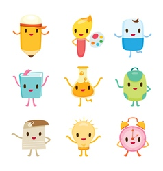 Education Characters Icons Design vector image vector image