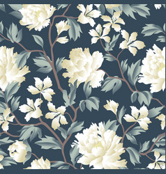 Floral chinese seamless pattern garden flower vector