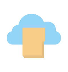 folder document with cloud computing vector image