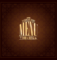 Food and drink restaurant menu design vector