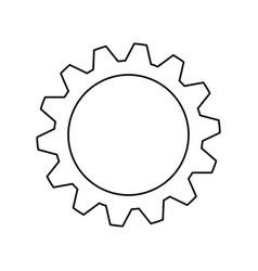 gear machinery engine vector image vector image