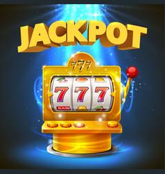 golden slot machine wins the jackpot vector image vector image