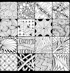 hand drawn zentangle background for coloring pag vector image vector image
