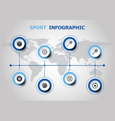 infographic design with sport icons vector image vector image