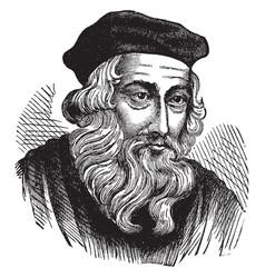 John wycliffe vintage vector