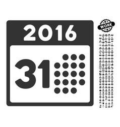 Last 2016 month day icon with men bonus vector