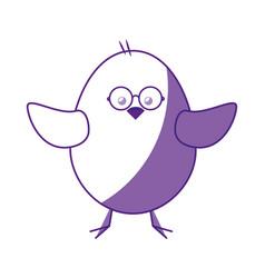 little chicken cartoon vector image