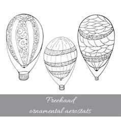 lone aerostat set vector image