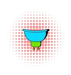 Luminodiode icon in comics style vector