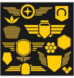 Military symbol icons - set vector image vector image