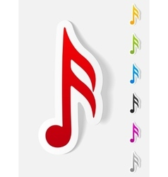 Realistic design element musical note vector
