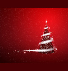 Red christmas blizzard stars background vector