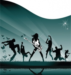rock party vector image vector image