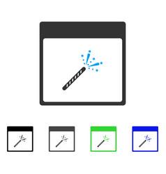 Sparkler firecracker calendar page flat icon vector