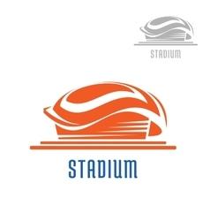 Sport area or stadium icon vector