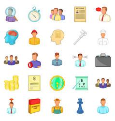 Vacancy icons set cartoon style vector