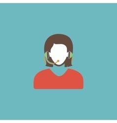 Women customer support vector