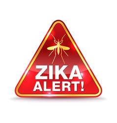 Zika alert icon vector