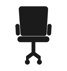 Office chair silhouette icon vector