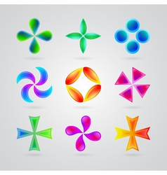 Modern colorful symbols for your design vector