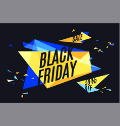 Colorful banner with text black friday vector