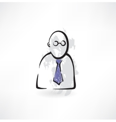 man in a tie vector image