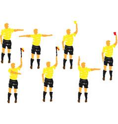 20-6-2014 fotbal rozhodci set vector
