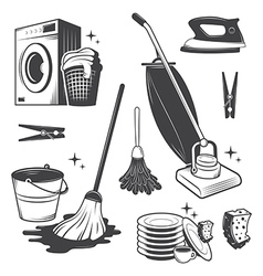 Cleaning set vector