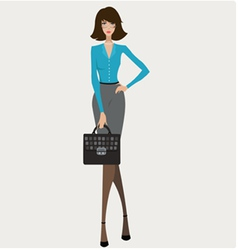 Young businesswoman vector