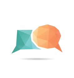 Speech bubble icon abstract vector image