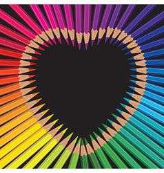 Pencils heart vector