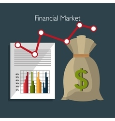 Financial market and investments vector
