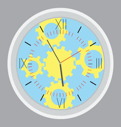 Time planning design gear vector