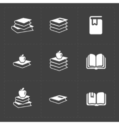 Modern web books set on dark vector