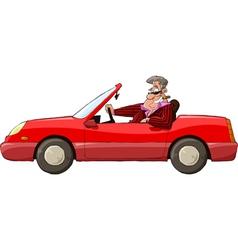 Man in a car vector image