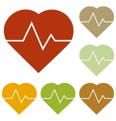 Heartbeat sign vector