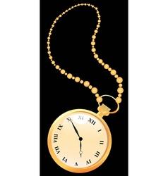 Golden pocket watches vector image